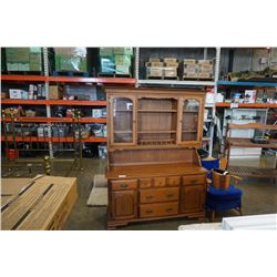 VILAS MAPLE 2 PIECE BUFFET AND HUTCH