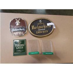 HEINEKIN AND TUBORG LAGER BEER ADVERTS