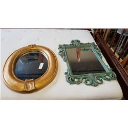 2 DECORATIVE MIRRORS