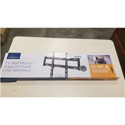 NEW OVERSTOCK 33-46 INCH FIXED POSITION TV WALL MOUNT 80LB CAPACITY