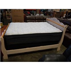 AS NEW BEAUTY REST STERLING DOUBLE SIZE FLOOR MODEL MATTRESS AND BOX SPRING - HI LOFT PILLOW TOP, ME