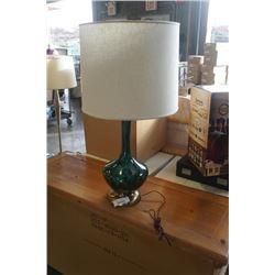 MCM GLAZED POTTERY LARGE TABLE LAMP