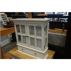 WHITE 2 DOOR AND 2 DRAWER WALL CABINET