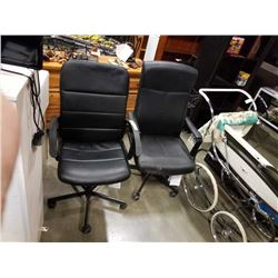 2 GAS LIFT OFFICE CHAIRS