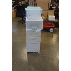 3 DRAWER ROLLING FILING CABINETS,SMALL BINS AND ORGANIZERS
