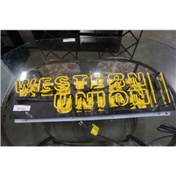 WESTERN UNION SIGN - DOES NOT LIGHT UP