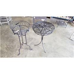 2 Decorative metal stands