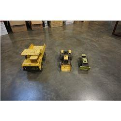 3 vintage metal tonka toys