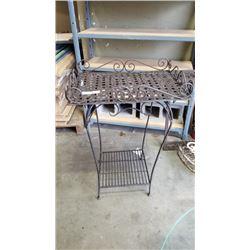 Decorative metal 3 foot table