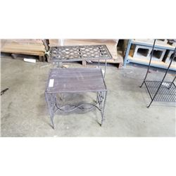 2 Decorative metal side tables