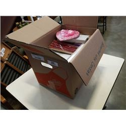 BOX OF VARIOUS WAX CANDLES