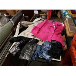 3 new womens jackets and 6 pair of new womens leggings