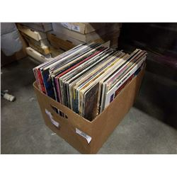 BOX OF RECORDS - BEACH BOYS, JAMES BROWN AND OTHERS