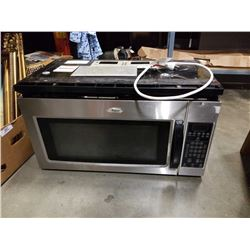 WHIRLPOOL STAINLESS OVER RANGE MICROWAVE
