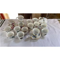 LOT OF CHINA CUPS, SAUCERS AND MUGS