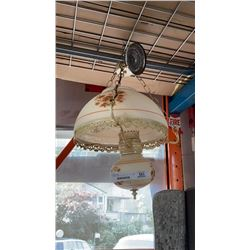 VINTAGE HANGING PAINTED LIGHT FIXTURE