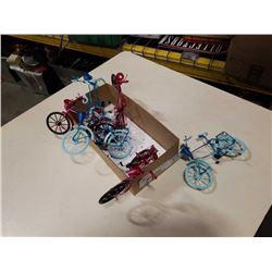 6 miniature bicycles