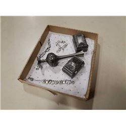 New pewter jewelry boxes and jewelry