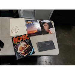 NIRVANA COLLECTOR BOOKLET, ACDC ANTHOLOGY BOOK, ILLUSTRATED ELVIS AND MUSIC BOOKS
