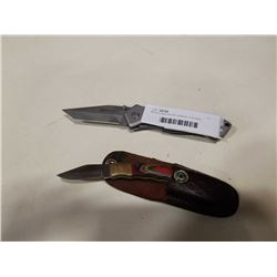 MTECH AND WOOD HANDLE FOLDING KNIVES