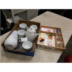 Ultransmit diffuser and teaset with new handmade soap