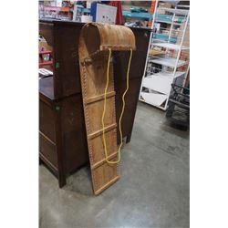 5 foot wood toboggan