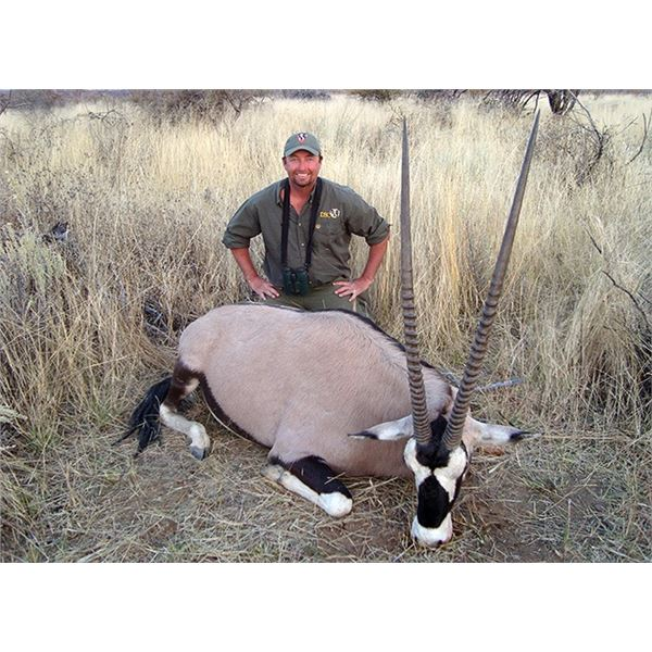 5-Day Namibia Gemsbok and Blue Wildebeest Hunt for 2 Hunters