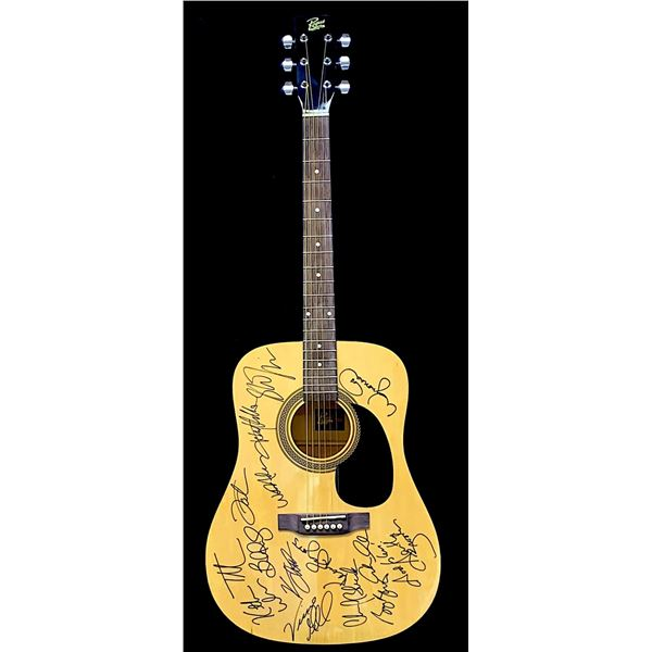 Country Music Superstars Autographed Guitar
