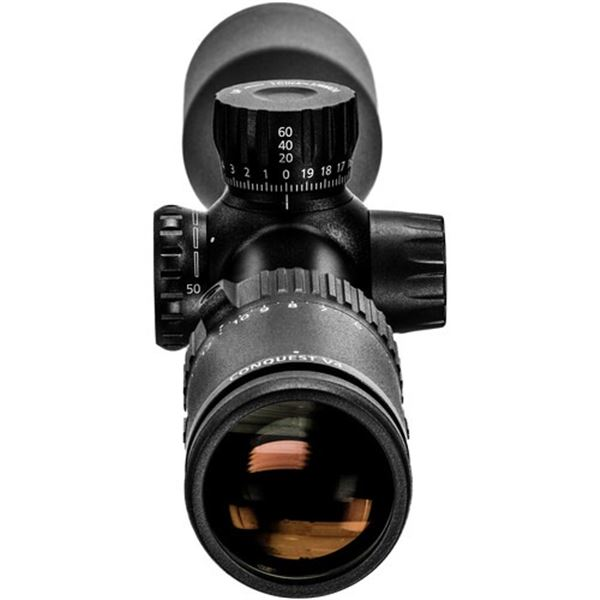 ZEISS 4-16x44 Conquest V4 Side-Focus Riflescope with Capped Elevation Turret (Plex Reticle 60)