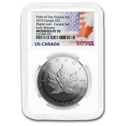 2019 1 oz Silver Maple Leaf Modified Proof PF-70 NGC (ER)