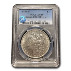 1888-O Morgan Dollar AU-50 PCGS (Doubled Die Obverse)
