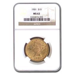 1901 $10 Liberty Gold Eagle MS-62 NGC