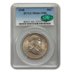 1948 Franklin Half Dollar MS-66+ PCGS CAC (FBL)