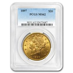 1897 $20 Liberty Gold Double Eagle MS-62 PCGS