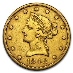 1848 $10 Liberty Gold Eagle VF