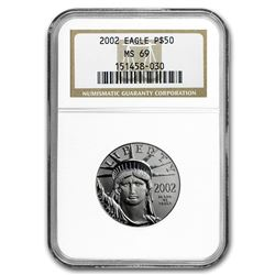 2002 1/2 oz Platinum American Eagle MS-69 NGC