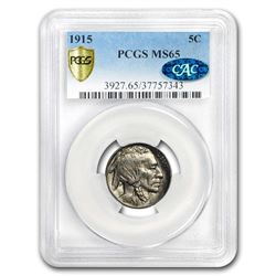 1915 Buffalo Nickel MS-65 PCGS (CAC)