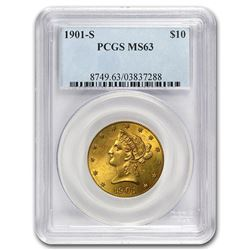 1901-S $10 Liberty Gold Eagle MS-63 PCGS