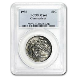 1935 Connecticut Half Dollar MS-64 PCGS