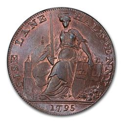 1795 Middlesex 1/2 Penny Conder Token MS-66 PCGS (RB)