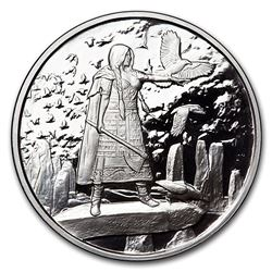 5 oz Silver Proof Round - Celtic Lore (The Morrigan)