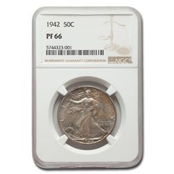 1942 Walking Liberty Half Dollar PF-66 NGC