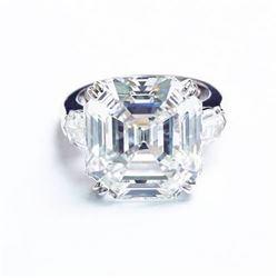 Natural 2.32 CTW 3-Stone Asscher Cut & Bullet Cut Diamond Ring 18KT White Gold