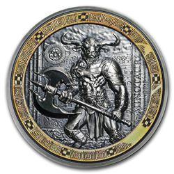 2016 Palau 2 oz Silver Mythical Creatures Collection Minotaur