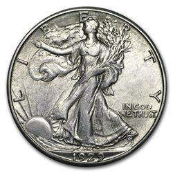 1929-S Walking Liberty Half Dollar AU