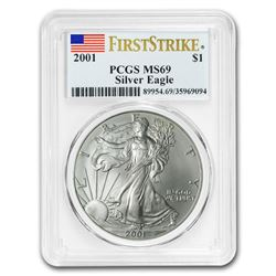 2001 Silver American Eagle MS-69 PCGS (FirstStrike®)