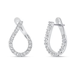 Natural 0.62 CTW Girls Night Out Diamond Earrings 18KT White Gold