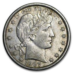 1907-D Barber Half Dollar AU