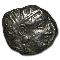 Attica Athens Silver Tetradrachm Owl (393-294 BC) VF