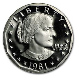 1981-S Susan B. Anthony Dollar Gem Proof Type-2
